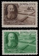 Russia / Sowjetunion 1949 - Mi-Nr. 1365-1366 ** - MNH - Dokutschajew - 1923-1991 USSR