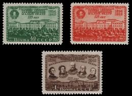 Russia / Sowjetunion 1949 - Mi-Nr. 1394-1396 ** - MNH - Theater - 1923-1991 URSS