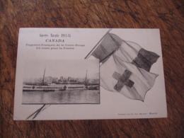 Guerre 14.18 Guerre Navale Canada Paquebot Croix Ruge En Route Pour France - Guerre 1914-18