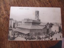 Cpa 12 Millau Marche Les Halles - Millau