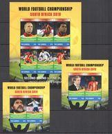 C1075 2010 GAMBIA SPORT FOOTBALL WORLD CUP SOUTH AFRICA USA VS GHANA 1KB+2BL MNH - Fußball-Weltmeisterschaft