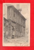 Aubigny Sur Nère : Rue Et Vieille Maison En 1903 - Aubigny Sur Nere