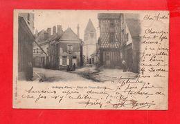 Aubigny Sur Nère : Place Du Vieux Marché En 1903 - Aubigny Sur Nere