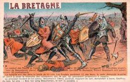 CPA - LA BRETAGNE - ILLUSTRATION H.Nozais - Le Combat Des Trentes - Jean De Beaumanoir ... - Edition J.Nozais - Histoire