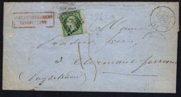 FRANCE : Y&T  N°  12  SUR  LETTRE  DE  PARIS  POUR  CLERMONT-FERRAND , A  VOIR . - 1849-1876: Période Classique