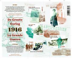 2016 - BL 236 -  1916 La Grande Guerre - Velletjes