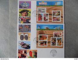 FDC (2) Grand Format France 2007 : La France à Vivre (série Complète 2 BF) - FDC
