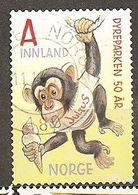 Norvege Norway 200- Dessin Anime Singe Cartoon Monkey Obl - Norvegia