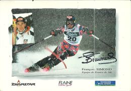 ( SPORT  )  ( SKI   )(  FRANCOIS SIMOND   )( DEDICACEE    ) - Wintersport