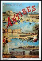 Chemin De Fer Affiche D'époque 1900 Paris ANTIBES  Railway Vintage Poster [reproduction] - Illustrateurs & Photographes