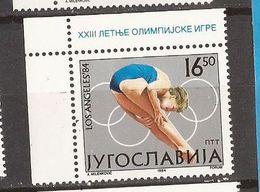 1-ALB 1984  2048-51 LOS ANGELES OLYMPIADE JUGOSLAVIJA JUGOSLAWIEN BASKETBALL SPRINGREITEN LAUFEN  MNH - High Diving