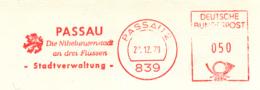 Freistempel 9808 Passau Nibelungenstadt - Affrancature Meccaniche Rosse (EMA)