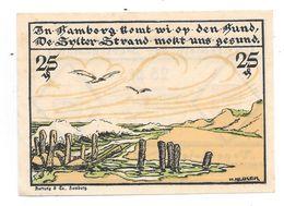 **notgeld Kampen 25 Pfennig  673.1 Catalog Val 6,00 Euro - [11] Local Banknote Issues