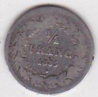 BELGIQUE. 1/4 FRANC 1835. LEOPOLD PREMIER. ARGENT - 1831-1865: Leopold I