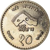 Monnaie, Népal, SHAH DYNASTY, Birendra Bir Bikram, 10 Rupee, 1997, Kathmandu - Nepal