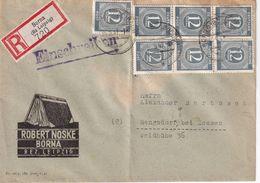 ALLEMAGNE 1947 ZONE AAS LETTRE  RECOMMANDEE DE BORNA ET CACHET ARRIVEE RANGSDORF - Zona AAS