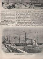 L'ILLUSTRATION 09 11 1850 - TRANSATLANTIQUE LE HAVRE - MADRID - CONSERVATOIRE ARTS ET METIERS - PALERME SICILE - Newspapers