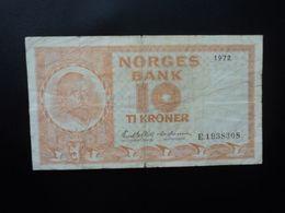 NORVÈGE : 10 KRONER   1972    P 31f     B+ - Noorwegen
