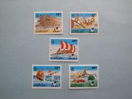 1992 Bateaux  Guernesey Yv 575/9 ** MNH Michel 568/72 Scott 498/02 SG  583/7 Ships  Opération Astérix - Guernesey