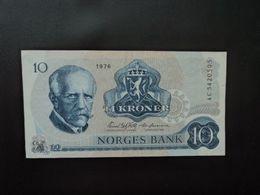 NORVÈGE : 10 KRONER   1976    P 36b     TTB+ * - Noorwegen