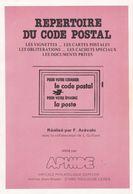1982 - Arevalo - Répertoire Du Code Postal - Vignettes, CP, Oblitérations, Cachets Spéciaux, Documents Privés - Philatélie Et Histoire Postale
