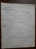 L15/120 Ancienne Facture. Beziers. Alcools Du Midi. Martel Freres. 1890 - France