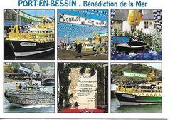 14 PORT EN BESSIN Cpm Multivues - Port-en-Bessin-Huppain