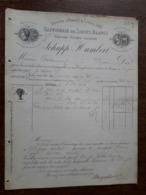 L15/121 Ancienne Facture. Epinal. Raffinerie De Sirops Blancs. Schupp Humbert. 1889 - France