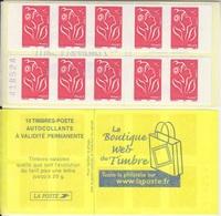 Marianne De Lamouche, N° 3744-C2 X 2 (la Boutique Web, Pour Sagem), Neuf ** - Carnets