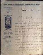 Lettre De 1916  Entête Pilules Végétales Et Produits Spéciaux BOSREDON LOUIS De MANSAC-BRIVE 19 Corrèze - France