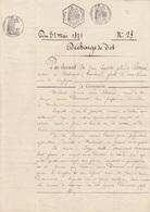 VIEUX PAPIER TIMBRE - DECHARGE DE DOT 1871 - CACHETS - FILIGRANE AIGLE 1869 - DUPONT CARIAS MALMORT VAUCLUSE - France