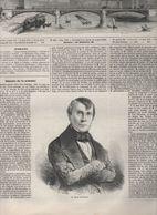 L'ILLUSTRATION 16 11 1850  EMILE DE GIRARDIN - PARIS PETITS METIERS - AEROSTATION - FRIESLAND LEEUWARDEN SNECK - CHORGES - Newspapers