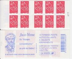 Marianne De Lamouche, N° 3744-C5 X 2 (Jules Verne, 6 Voyages Extraordinaires), Neuf ** - Carnets
