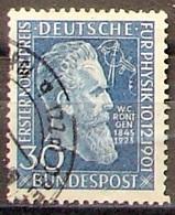 "Allemagne Germany BRD 1951: ""Wilhelm Conrad Röntgen"" Michel-No.147 Mit Eck-Stempel (Michel 20.00 Euro) - Physics"