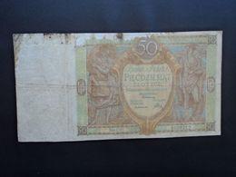 POLOGNE * : 50 ZLOTYCH   1.9.1929    CP 96c / P 71      B+ - Polonia