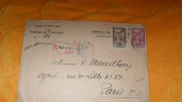 ENVELOPPE ANCIENNE DE 1933../ PROTECTORAT DE LA FRANCE AU MAROC..TRIBUNAL DE FES..R FEZ VILLE NOUVELLE 342. + TIMBRES X2 - Marocco (1891-1956)