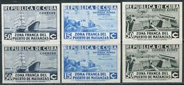 Cuba 1936. Michel #111,116,117-B VF/MNH. Transport. Aviation. Ships. Airplanes. Airmail (B28) - Poste Aérienne