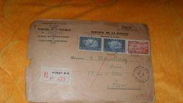 ENVELOPPE ANCIENNE DE 1935../ PROTECTORAT DE LA FRANCE AU MAROC..TRIBUNAL RABAT..R RABAT R.P. 475 + TIMBRES X3 + CACHETS - Marocco (1891-1956)
