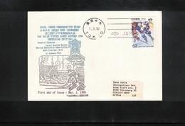 Japan  1990 Ice Hockey - Asian Winter Games Sapporo Interesting Postcard - Hockey (sur Glace)