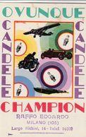 Cartolina - Postcard /   Viaggiata - Sent /  Candele Champion. - Pubblicitari