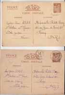 Lot De 5 CP / Entiers Postaux / Guerre 39/45 / Voyagé - Post