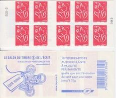 Marianne De Lamouche, N° 3744-C9 X 2 (Salon Du Timbre Et De L'Ecrit 2006), Neuf ** - Carnets