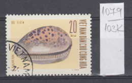 103K1079 / 1970 - Michel Nr. 612 Used ( O ) Seashells - Cypraea Sp. Cypraea Tigris Tiger Cowrie , North Vietnam Viet Nam - Vietnam