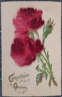 Christmas Card With Flowers - Postcards