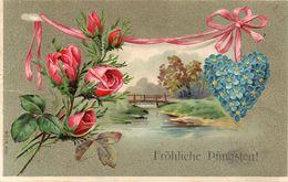 DC2308 - Pfingsten Prägerkarte Blumen - Pentecoste