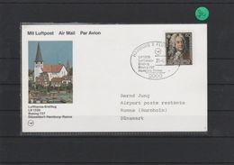 Luftpostkarte    Lufthansa  Erstflug    Hamburg  - Ronne     1986 - [7] Federal Republic