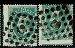 30 Obl  X 2  Décentrage - 1869-1883 Léopold II