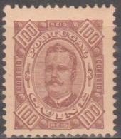 1893-94  D. Carlos I,  100 R,  D. 11 1/2   Pap. Porcelana   * MH  Afinsa Nº 43 - Portuguese Guinea