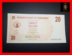 ZIMBABWE 20 $ 1.8.2006  P. 40  UNC - Zimbabwe