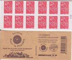 Marianne De Lamouche, N° 3744A-C5 X 2 (Eco-carnet, Pour La Planète), Neuf ** - Carnets